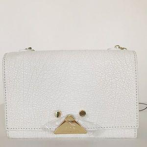 Emporio Armani White Leather Clutch